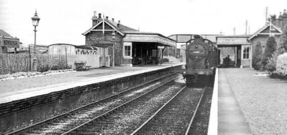 The Station At Newburgh Before Closing In 1955 For Passengers